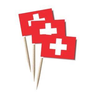 Schweiz Käsepicker Minifähnchen Zahnstocherfähnchen