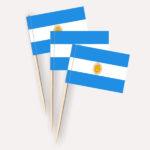 Argentinien Käsepicker, Minifahnen, Zahnstocherfähnchen