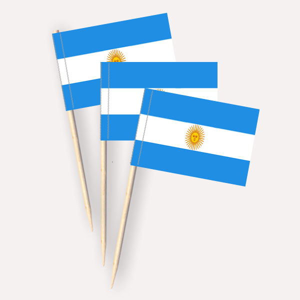 Argentinien Käsepicker Minifähnchen Zahnstocherfähnchen