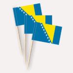 Bosnien Herzegowina Käsepicker, Minifahnen, Zahnstocherfähnchen