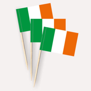 Irland Käsepicker, Minifahnen, Zahnstocherfähnchen