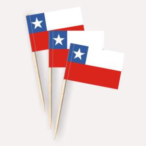 Chile Käsepicker, Minifahnen, Zahnstocherfähnchen