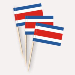 Costa Rica Käsepicker, Minifahnen, Zahnstocherfähnchen