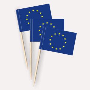 Europa Käsepicker, Minifahnen, Zahnstocherfähnchen