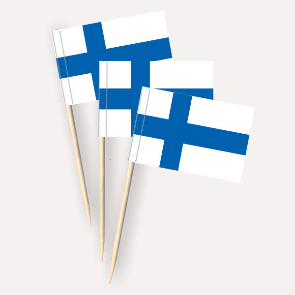 Finnland Käsepicker Minifähnchen Zahnstocherfähnchen