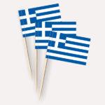 Griechenland Käsepicker, Minifahnen, Zahnstocherfähnchen