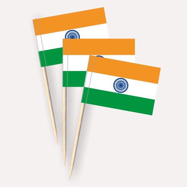 Indien Käsepicker, Minifahnen, Zahnstocherfähnchen