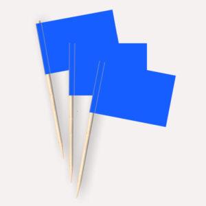 Käsepicker blau, Minifahnen, Zahnstocherfähnchen