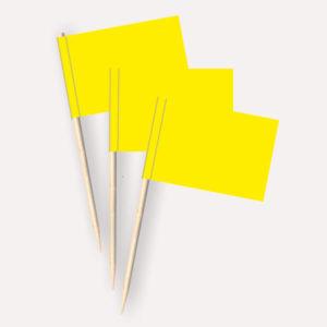 Käsepicker gelb, Minifahnen, Zahnstocherfähnchen