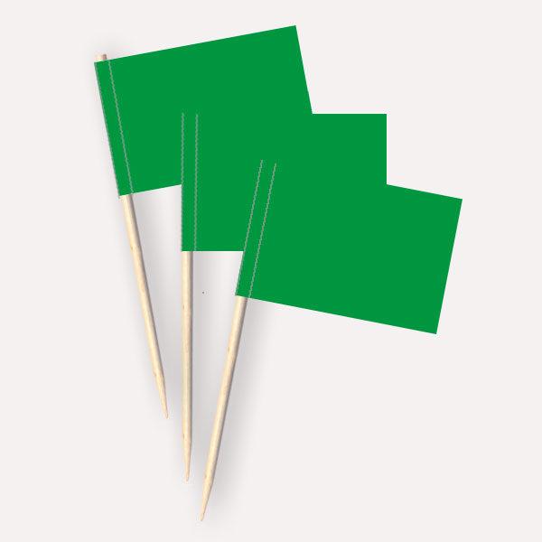 Käsepicker grün, Minifahnen, Zahnstocherfähnchen