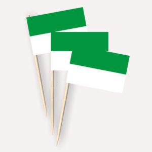 Käsepicker grün weiss, Minifahnen, Zahnstocherfähnchen