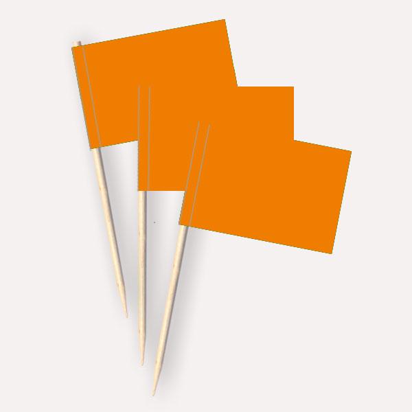 Käsepicker orange | Minifahnen Zahnstocherfähnchen