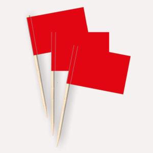 Käsepicker rot, Minifahnen, Zahnstocherfähnchen