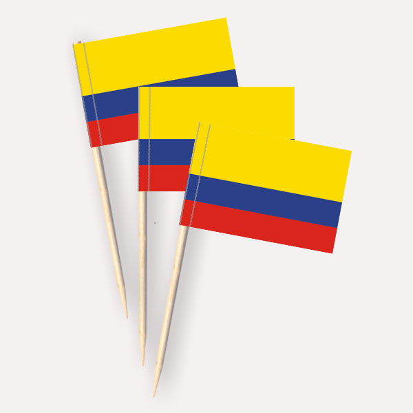 Käsepicker Kolumbien | Minifahnen Zahnstocherfähnchen