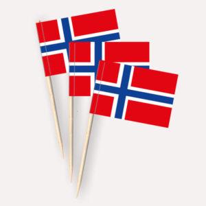 Norwegen Käsepicker Minifähnchen Zahnstocherfähnchen