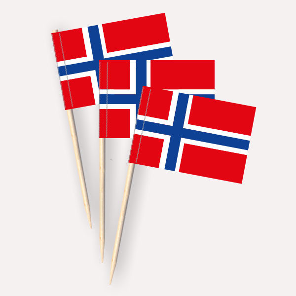 Norwegen Käsepicker, Minifahnen, Zahnstocherfähnchen