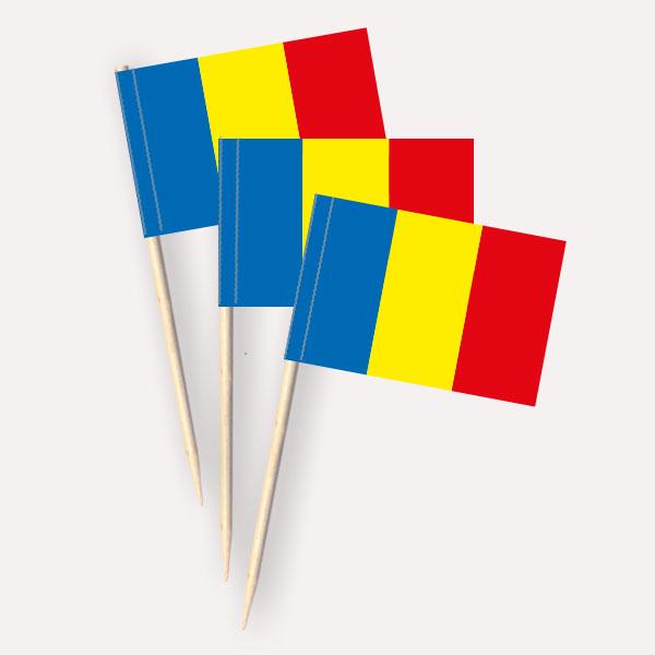 Käsepicker Rumänien | Minifahnen Zahnstocherfähnchen