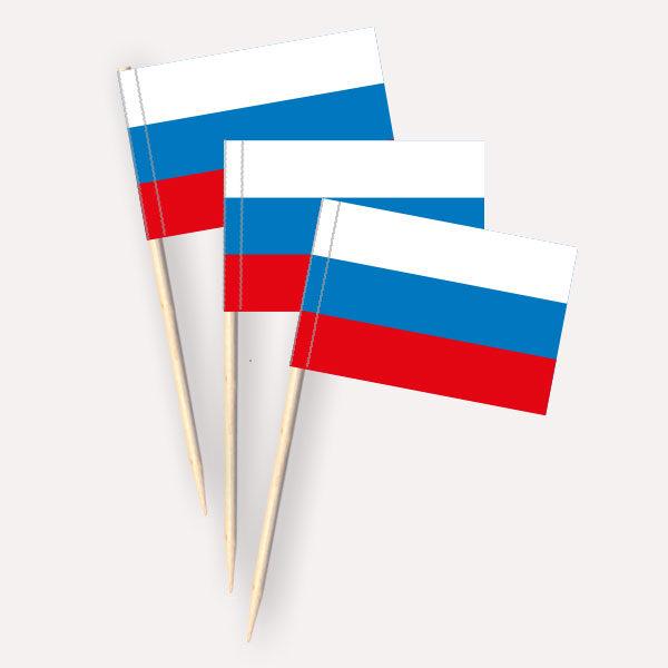 Russland Käsepicker, Minifahnen, Zahnstocherfähnchen