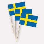 Schweden Käsepicker, Minifahnen, Zahnstocherfähnchen