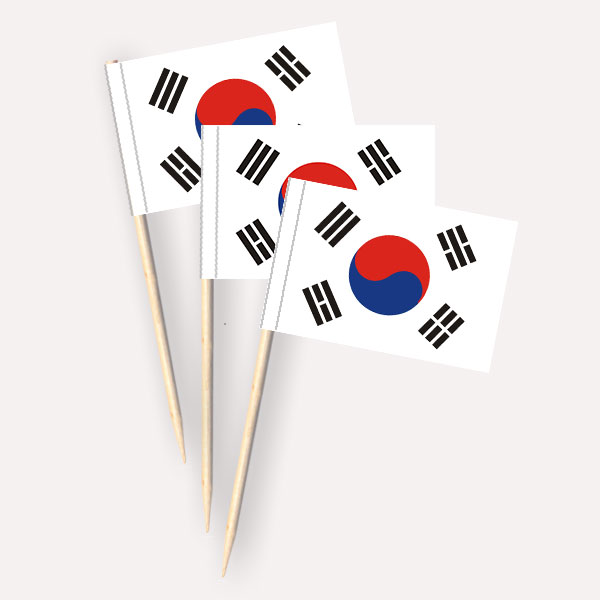 Käsepicker Südkorea | Minifahnen Zahnstocherfähnchen