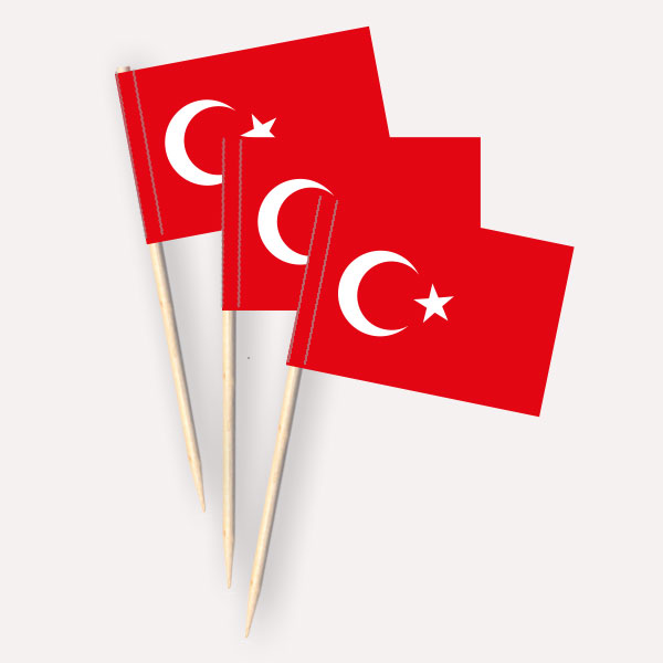 Käsepicker Türkei | Minifahnen Zahnstocherfähnchen