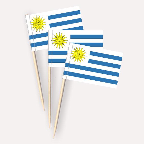 Käsepicker Uruguay | Minifahnen Zahnstocherfähnchen
