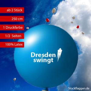 Riesenluftballons bedrucken lassen, 250 cm Umfang, ab 2 Stück