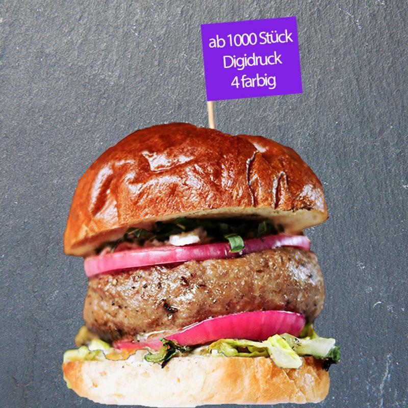 Burger-Picker bedruckt 4-farbig ab 1000