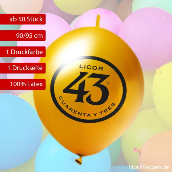Girlanden Luftballons bedrucken lassen, Umfang 90/95 cm Umfang, 35 cm Durchmesser ab 50 Stück