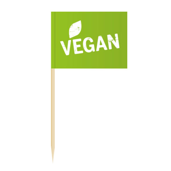 Vegan Fähnchenpicker Käsepicker Minifähnchen Zahnstocherfähnchen