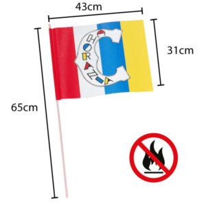 Papierfahnen bedruckt - 31x43cm-4-farbig-flammenresistent